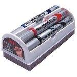 Set 4 rotuladores para pizarra blanca con borrador Pentel Maxiflo