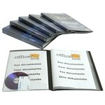 Carpeta con fundas A4 personalizable Officebox 20 fundas negro