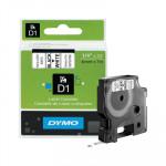 Cinta rotuladora electrónica Dymo D1 6mm negro/ blanco