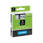 Cinta rotuladora electrónica Dymo D1 9 mm negro/ blanco 7m