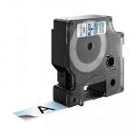 Cinta rotuladora electrónica Dymo D1 19mm. negro/ transparente 7m