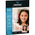 Papel fotográfico Canson Performance A4 brillo doble cara 180g.