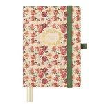 Agenda encuadernada Día página 2021 Finocam Design M4 Floral 11,8x16,8cm.