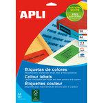 Etiquetas adhesivas A4 cantos rectos colores 20 hojas Apli 1599