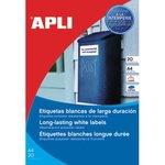 Etiquetas adhesivas poliéster para exteriores Apli