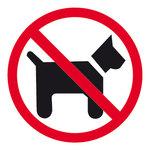 Pictograma adhesivo Prohibido Perros Apli