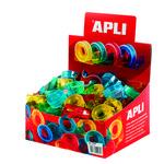 Cinta adhesiva en mini portarrollo Apli