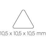 Gomets autoadhesivos Apli triangulares  10,5 mm 04863
