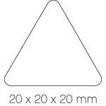 Gomets autoadhesivos permanentes triangulares 20mm Apli amarillo