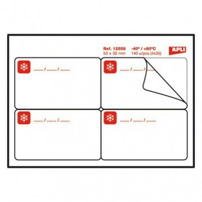 Etiquetas adhesivas para congelados 50x30 12558