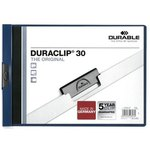 Dossier con clip metálico A4 apaisado Durable Duraclip
