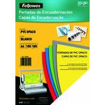 Portadas de encuadernar PVC opaco Fellowes blanco