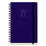 Agenda espiral Semana vista + notas 2021 Myrga Salerno Flexi 14,5x21cm Violeta