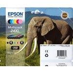 Cartucho inkjet Epson 24XL Pack 6 colores 740 páginas