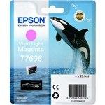 Cartucho inkjet Epson T7606 Magenta vivo 25,9 ml