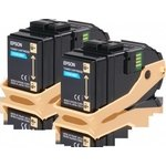 Tóner Epson AL-C9300 Pack doble Cian 7500 páginas