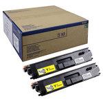 Tóner Brother TN900 Amarillo Pack de 2 12000 páginas