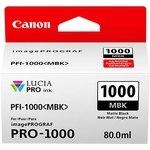 Cartucho inkjet Canon PFI-1000mbk Negro Mate  80 ml