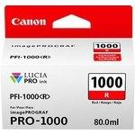 Cartucho inkjet Canon PFI-1000r Rojo  80 ml