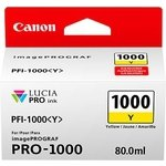 Cartucho inkjet Canon PFI-1000y Amarillo  80 ml