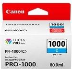 Cartucho inkjet Canon PFI-1000c Cian  80 ml