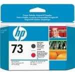 Cabezal de impresión HP 73 negro (mate) / rojo (chrom.)