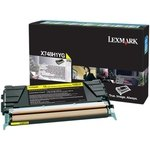 Tóner Lexmark X748 amarillo  10.000 páginas