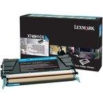 Tóner Lexmark X748 cian  10.000 páginas
