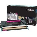 Tóner Lexmark X748 magenta  10.000 páginas