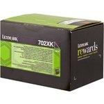 Tóner Lexmark 702XK negro  8.000 páginas