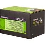 Tóner Lexmark 802XK negro  8.000 páginas