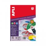 Etiquetas adhesivas para CD-DVD dorso opaco Apli 25 hojas