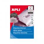 Etiquetas adhesivas A4 cantos rectos  500 hojas Apli 01796