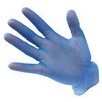 Guantes desechables de vinilo Azul L U
