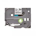 Cinta rotuladora electrónica Brother TZ  12mm blanco/ negro