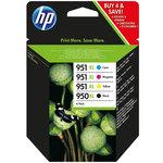 Pack de 4 cartuchos inkjet HP 950XL negro/951XL cian/magenta/amarillo 2300/1500/1500/1500 páginas