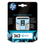 Cartucho inkjet HP 363 cian claro 220 páginas