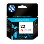 Cartucho inkjet HP 22 tri-color 165 páginas