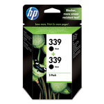 Pack de 2 cartuchos inkjet HP 339 negro 860/860 páginas C9504EE