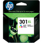 Cartucho inkjet HP 301XL de alta capacidad Tri-color 330 páginas
