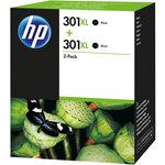 Pack de 2 cartuchos inkjet HP 301XL de alta capacidad negro/negro 480/480 páginas