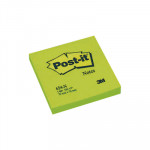 Bloc de notas adhesivas Post-it Neón 76x76mm verde