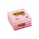 Cubo de notas adhesivas Post-it pastel rosa