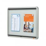 Vitrina para anuncios con puerta oscilante uso interior Nobo 4 hojas A4 692x532mm