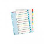 Separadores de cartulina A4 maxi índice númerico con pestañas reescribibles Esselte del 1 al 12