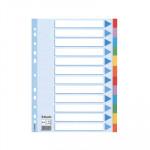 Separadores de cartón A4 colores Esselte 12 pestañas/ 6 colores