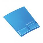 Alfombrilla ratón con reposamuñecas gel con canal ergonómico Fellowes azul