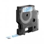 Cinta rotuladora electrónica Dymo D1 12mm azul/ transparente 7m.