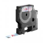 Cinta rotuladora electrónica Dymo D1 12mm rojo/ transparente 7m