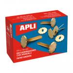Encuadernador metálico con arandela Apli 12577
